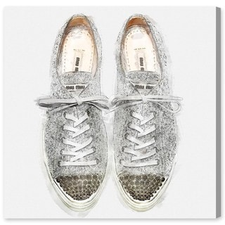 Oliver Gal 'Glitter Sneakers' Canvas Art