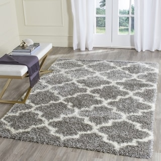 Safavieh Montreal Shag Grey/ Ivory Rug (6'7 x 6'7 Square)
