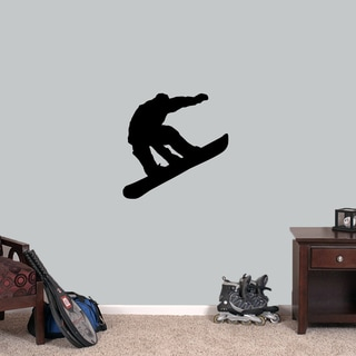 Snowboarder 24-inch Wide x 24-inch Tall Wall Decal