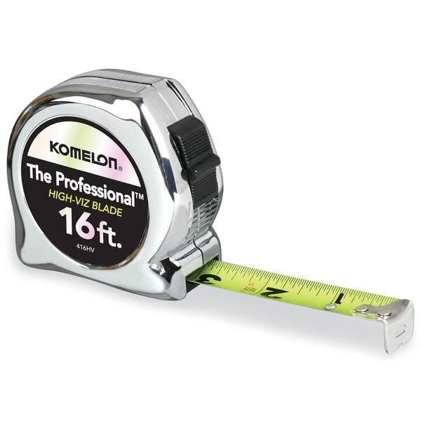 "Komelon USA 416HV 3/4"" X 16' Chrome Professional Tape Measure"