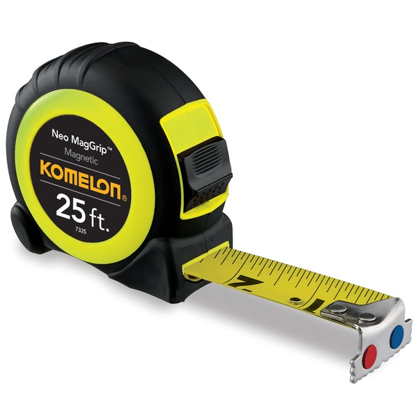 Komelon USA 7325 25' Neo MagGrip Magnetic Tape Measure