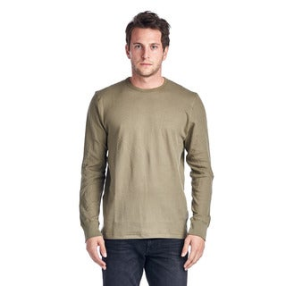 Men's Olive Cotton Thermal T-Shirt
