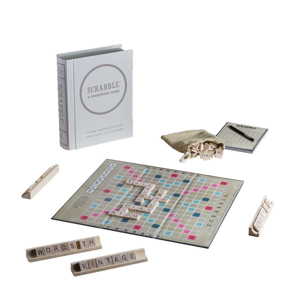 Scrabble Game Linen Book Vintage Edition