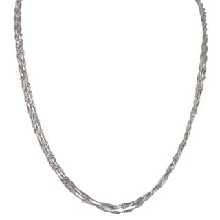 Sterling Silver Triple Singapore Chain