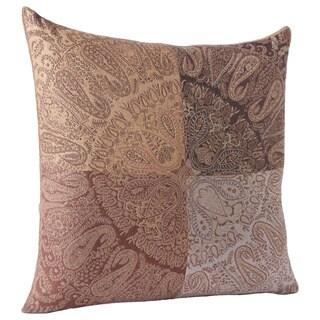 Paisley Block Wool Throw Pillow