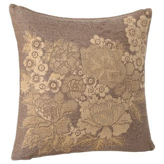 Japanese Floral Wool Throw Pillow