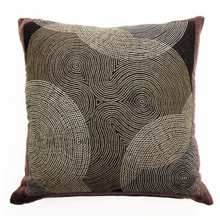 Wool Jacquard Contemporary Circles Throw Pillow