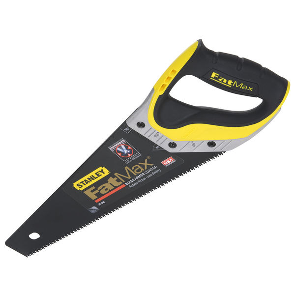 """Stanley Hand Tools 20-046 15"""" 7 TPI FatMax Saw With Blade Armor Coating"""