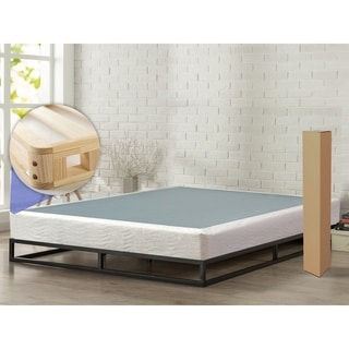 ONETAN 8-Inch Easy Wood Box Spring with Simple Assembly