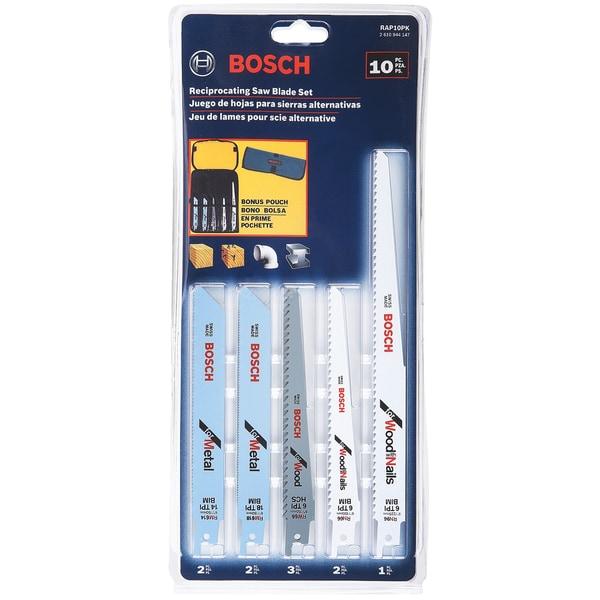 Bosch RAP10PK 10 Piece Reciprocating Saw Blade Set