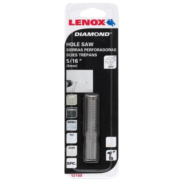 "Lenox 121108DGDS 1/2"" Diamond Holesaw"
