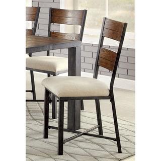 Furniture of America Kesso Industrial Metal Side Chair (Set of 2)