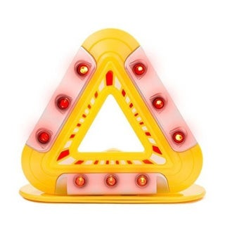 Flashing Emergency Triangle - LED Lights Warning Triangle with Magnetic Base