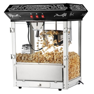 Great Northern Popcorn Black 8-ounce Old Time Popcorn Popper Machine