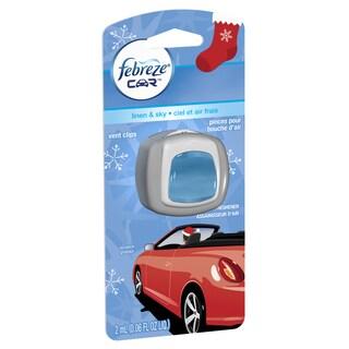 Febreeze 94726 .06 Oz Linen & Sky Air Freshener & Odor Eliminator Vent Clip