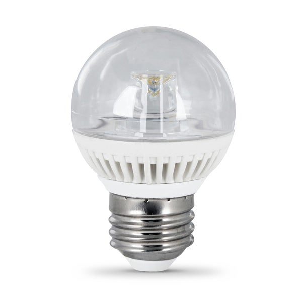 Feit Electric BPGMCLDMLED Medium 4-4/5 Watt G16-1/2 Clear LED Globe Light Bulb