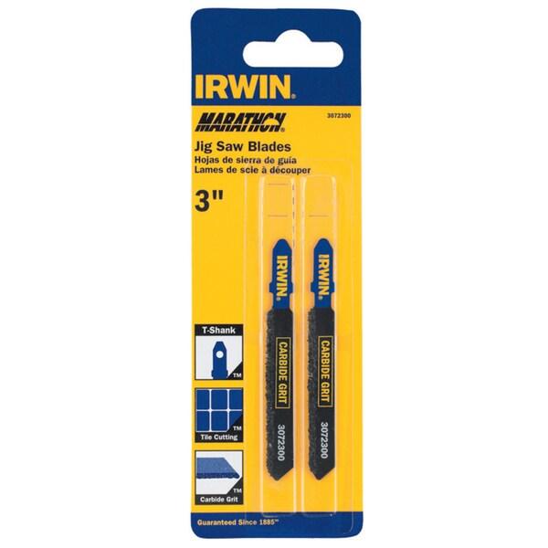 "Irwin Marathon 3072300 3"" 5/32 Carbide Grit T-Shank Jigsaw Blade"