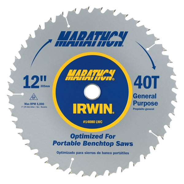 "Irwin Marathon 14080 12"" Marathon Miter & Table Saw Blades"