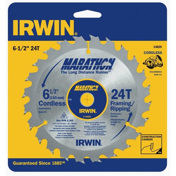 "Irwin Marathon 14029 6-1/2"" 24T Marathon Cordless Circular Saw Blade"
