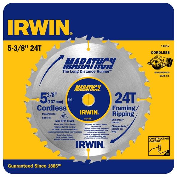 "Irwin Marathon 14017 5-3/8"" 24T Marathon Cordless Circular Saw Blade"