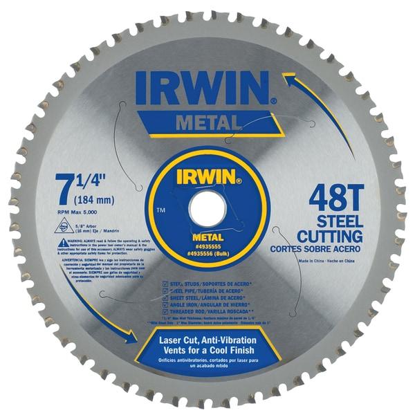 """Irwin 4935555 7-1/4"""" 48 Tpi Metal Cutting Circular Saw Blade"""