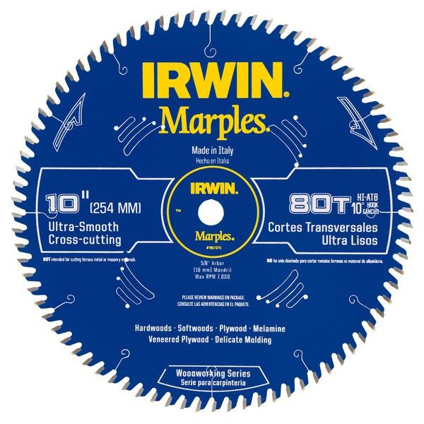 "Irwin 1807370 10"" Marples 80 Tooth Circular Saw Blade"
