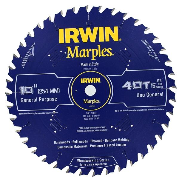 "Irwin 1807367 10"" Marples 40 Tooth Circular Saw Blade"
