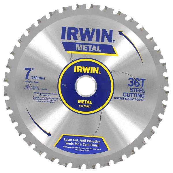 "Irwin 1779857 7"" Ferrous 36 Tooth Steel Circular Saw Blade"