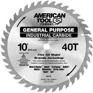 "Irwin 15270 10"" 40T eneral Purpose Circular Saw Blade"