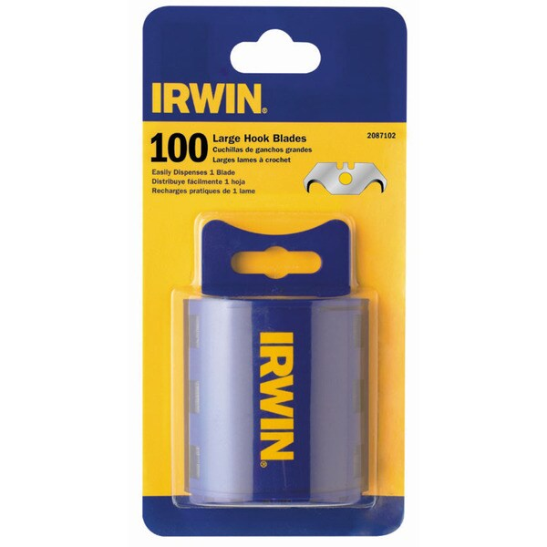 Irwin 2087102 100-count Carbon Hook Utility Blades
