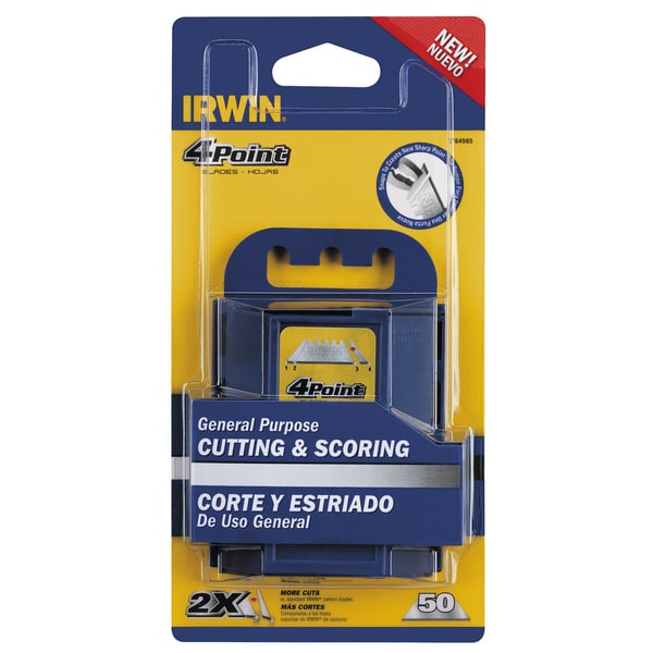 Irwin 1764985 50-count 4 Point Carbon Utility Blades