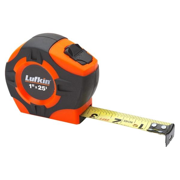 "Lufkin PHV1425 1"" X 25' Orange Tape Measure"