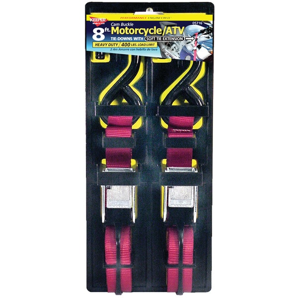 Keeper 05716 Soft Tie Cam Buckle Tie Down 2-count