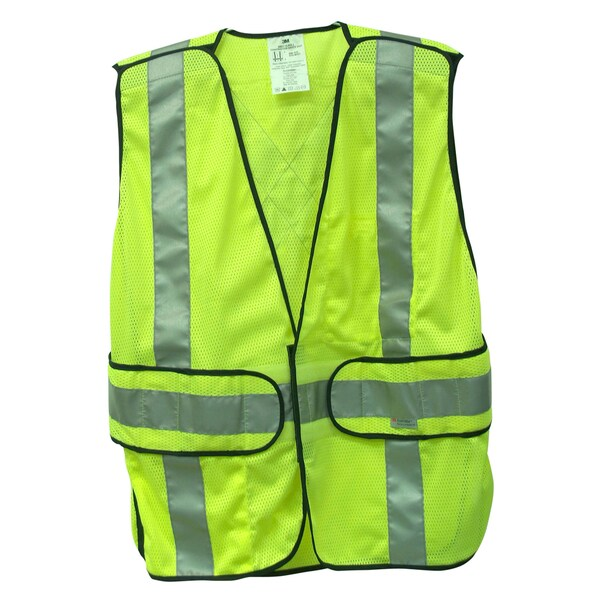 3M 94617-80030 Yellow Reflective Class 2 Construction Safety Vest