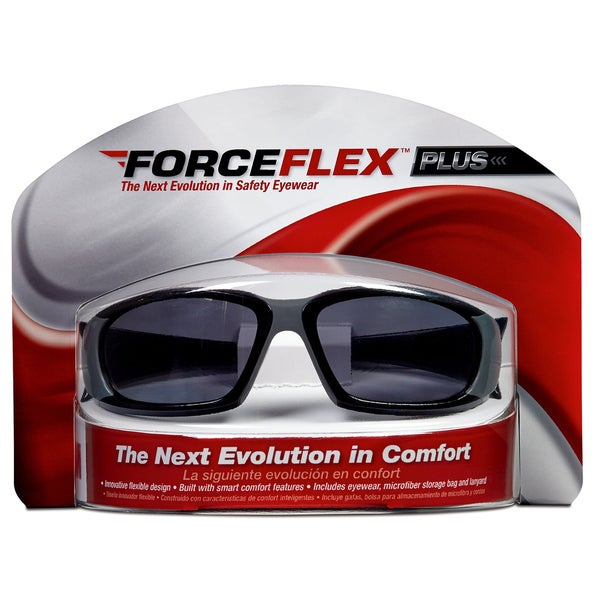 3M 92235-WZ4 Black & Grey ForceFlex Safety Eyewear