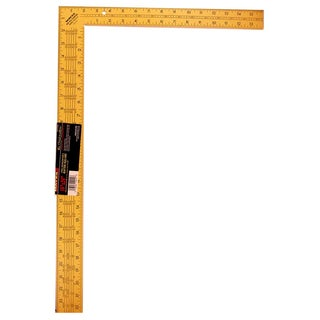 """Mayes 10219 24"""" Yellow Steel Rafter Square"""