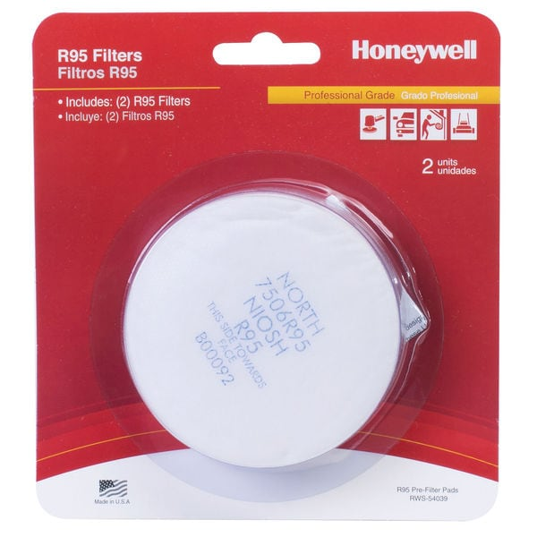 Honeywell RWS-54039 Pre-Filter R/N95 Pads 2-count