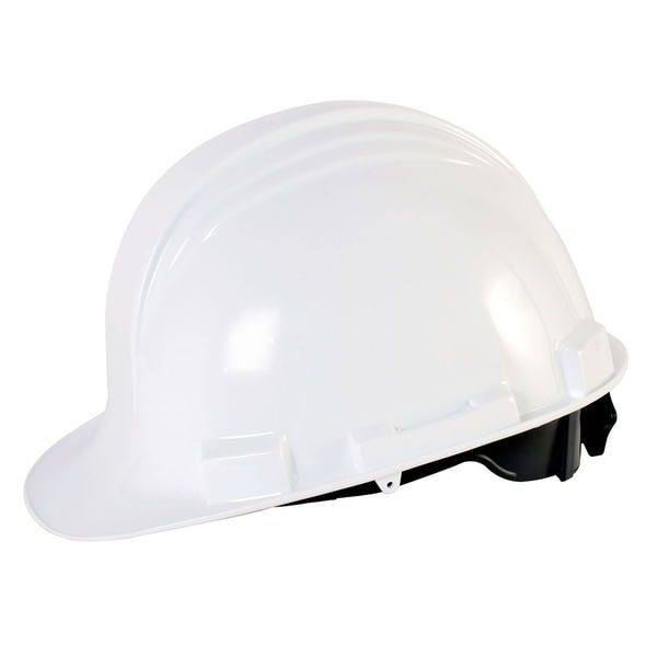 Honeywell RWS-52004 White Hard Hat With Ratchet Suspension