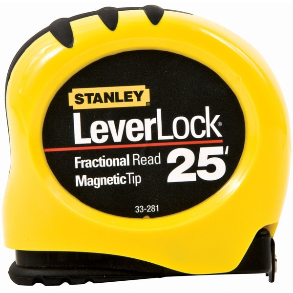 "Stanley Hand Tools STHT33281 1"" X 25' LeverLock Tape With Magnetic Tip"