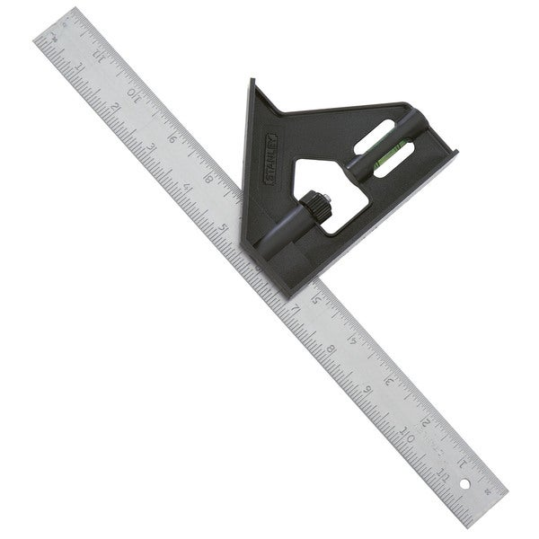"Stanley Hand Tools 46-012 12"" Professional Combination Square"