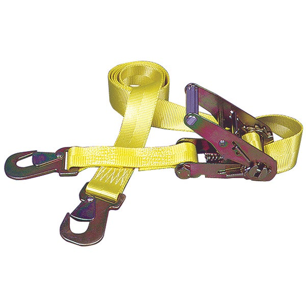 Keeper 04105 Ratchet Tie-Down With Flat Snap Hooks