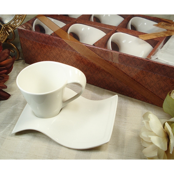 12 piece Biscotti Saucer Cappuccino Set 18038890