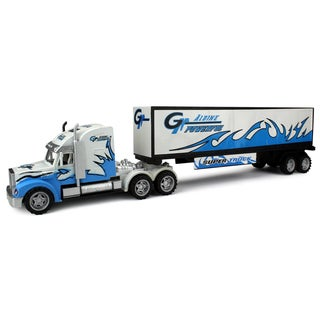 Velocity Toys Power Freight Trailer Friction Toy Truck Ready To Run No Batteries Required (Colors May Vary)