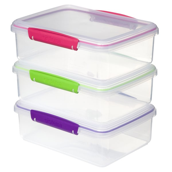 Sistema To Go 2L Containers Clear 3pk