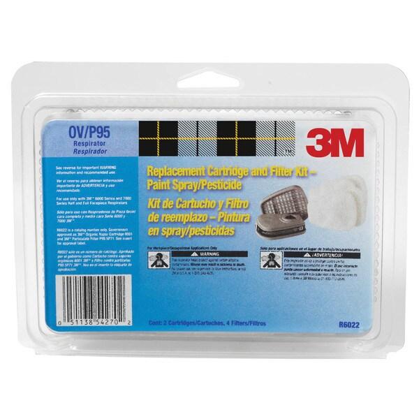 3M 6022PA1-A Organic Vapor Cartridge & Filter 18041057