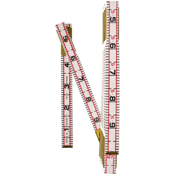 """Lufkin 1066DN 6' X 5/8"""" Engineer's Scale Wood Rule Red End"""
