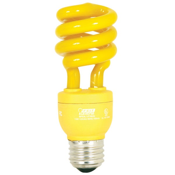 Feit Electric BPESL13T/BUG 13 Watt Compact Fluorescent Yellow Mini Twist Bulb