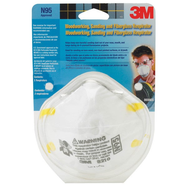 3M 8210PA1-A Sanding & Fiberglass Insulation Respirator 18041625