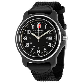 Victorinox Swiss Army Men's Black Nylon Original XL 249087 Swiss Quartz Analog Watch