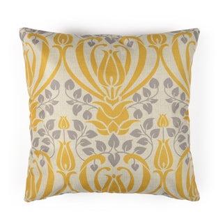 Journee Home 'Grecian Garden' 17-inch Vintage Linen Accent Throw Pillow